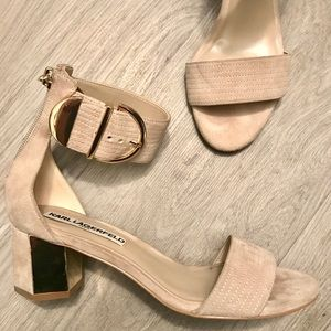 Karl Lagerfield Haila Nude Sandals